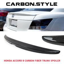 08-12 For Honda Accord 8 4DR Sedan OE Type Carbon Fiber Rear Trunk Spoiler