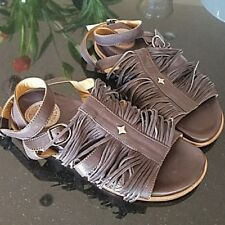 Fiorentini and Baker Fringed Sandals NWOT! Gorgeous, supple, spectacular!