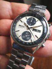 SEIKO PANDA 6138-8020 Chronograph Automatic - Original Vintage Watch from 1977