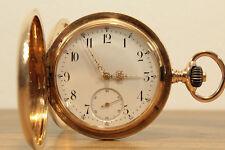 IWC SCHAFFHAUSEN 14K GOLD SAVONNETTE TASCHENUHR UM 1892 DREI DECKEL 585 GOLD