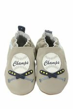 NIB ROBEEZ Shoes Champ Baseball Gray Blue 0-6m 1 2