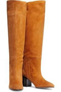 $898 - Stuart Weitzman Tubo Camel Suede Knee Boots Size 11.5