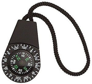 2 Pack Compass Zipper Pull Strap for Clothing Bags Black Camping Survival