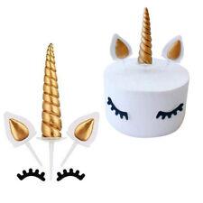 Einhorn Cake Torten Topper Kuchenstecker Happy Birthday Ohren Wimpern Kuchendeko