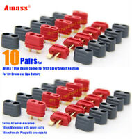 10Pairs Update Amass Dean T Plug Male Female Connector Covers For Drone Battery