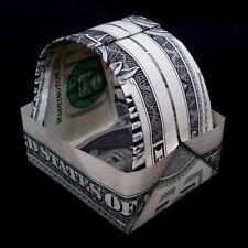 Money Origami Miniature BASKET Small Handmade Gift Real One Dollar Bill Decor