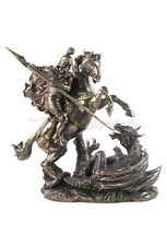 St. George Slaying The Dragon Statue Sculpture Figurine - WE SHIP WORLDWIDE