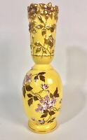 Art Nouveau Antique Porcelain Carlsbad/Carl Knoll Vase - Enamel, Gild, Floral