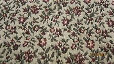 HEAVY WOVEN CURTAIN UPHOLSTERY MATERIAL FABRIC SMALL FLORAL FLOWERS 5.333 YDS