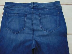 NYDJ Women's Size 16 Barbara Bootcut Denim Dark Wash Jeans MAER1429 Blue