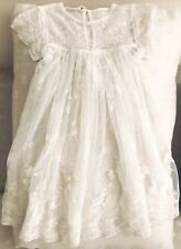 CORNELLOKI BABY GIRL IVORY LACE CHRISTENING, PARTY GOWN SZ 2 Unlined, Gown Only