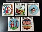 Lot 5 Vintage 60's Mt Hawley Miniature Fairy Tale Story Books 3 bears pigs peter