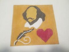 Shakespeare In Love Movie Coaster-Melissa Prince-Handpainted Needlepoint Canvas