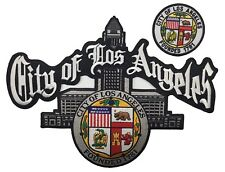 CITY OF LOS ANGELES PATCH FOR JACKET SIZE FRONT 3'' FOR BACK 12''X 9''