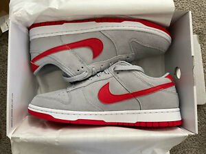 Nike Dunk Low By You, Size 10, Red Gray Grey, Ohio State Colors
