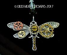 Fun Steampunk Dragonfly Swarovski Beads Car Charm Suncatcher Lilli Heart Designs