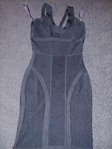 Herve Leger Size S Black Bandage Womens Dress