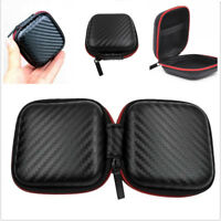 Hard Zipped Case Pouch Storage Bag For Earphone Headphone Earbuds Cable Portable