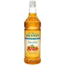 Monin Sur Free Hazelnut, 1 Liter (4 Pack)