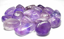 TUMBLED - (1) LARGE Lilac Lavender AMETHYST Crystal w/Description- Healing Stone