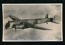 Military Aviation RAF ARMSTRONG WHITWORTH WHITLEY Heavy Bomber c1930s? RP PPC