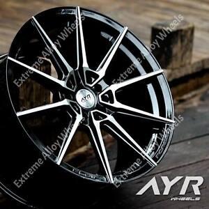 "Alloy Wheels 18"" 01 For Mercedes C Class W204 W205 Models 5x112 Wr Black"