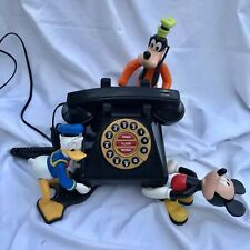Mickey Donald Goofy Corded House Telephone