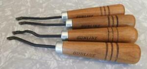 Vintage Gunsmith Gun Stock Making Tools lot including Gunline Checkering Set
