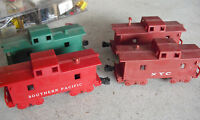 Lot of 4 O Scale Marx 4 Wheel Caboose Cars NYC Southern Pacific