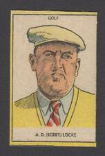 DC THOMSON SPORTS GOLF CARD FROM ROVER 1950s  A.D.(BOBBY) LOCKE
