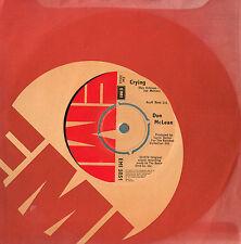 "DON McLEAN Crying / Genesis 7"" Single Vinyl UK EMI 5051 EMI5051 A-1/B-1"