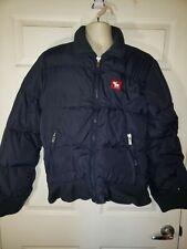 Abercrombie & Fitch Men's Down Jacket Blue puffer Full Zip Sz L