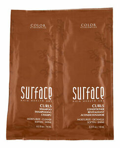 Surface Curls Shampoo & Conditioner Duo Trial Size. Hair Care Set