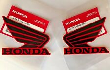 Honda Wing Fuel Tank Decal Wings Sticker 2 x 80mm BLACK & RED