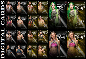 Topps SLAM WWE SUPERSTARS TO WATCH IN 2021 [SET 20 CARDS SIGNATURE/BASE]