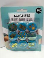 Magnettafel Pinnwand Magnetwand Muster Blatt T/ürkis Aqua Gr/ö/ße 80 x 60 cm