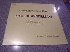 "Greenville College Choir ""FIFTIETH ANNIVERSARY"" SEALED NM LP DR. JAMES WILSON"