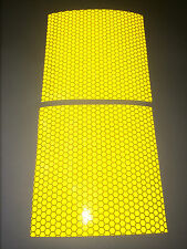 Two pieces of yellow high intensity reflective tape Self-Adhesive 100mm×100mm