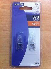 28w = 35w 240v G9 Clear Halogen Lamp Light Bulb Bulbs x 10