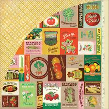 "Basic Grey Herbs & Honey ""Artichoke"" 12x12 Paper! 2 pcs"