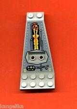 Lego--30118pb01--Flügel-Panel--UFO-Space--Grau/OldGray-8x4+2x3 1/3-Bedruckt