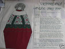 Vintage Victoriana Christmas Angel Tree Top & Ornaments Fabric Craft Holiday