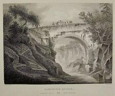 1801 J Fittler Etching, J C Nattes Del GANNACHIE BRIDGE