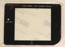 Gameboy original DMG-01 - Glass screen cover replacement - New - Black