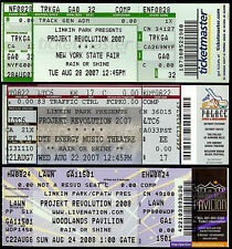 3 Rare Unused Linkin Park Projekt Revolution Tickets New York Fair Woodlands DTE