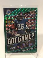 2020 Panini Mosaic Football Saquon Barkley 'Got Game?' Green Prizm