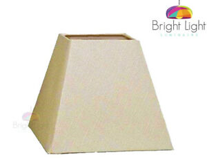 COTTON LINEN SQUARE PYRAMID TABLE LAMPSHADE-CEILING PENDANT 9 INCH HARD LINED👀