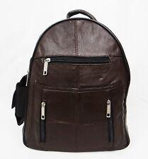 Ladies Genuine Leather School Bag / Rucksack / Soft And Lightweight (BROWN)