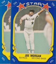 1981 FLEER BASEBALL STICKER LOT (2) JOE MORGAN ASTROS NMMT *52972