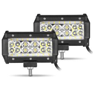 2X 5in 80W LED Work Light Bar Spot Flood Combo Off-road Driving Lamp ATV UTV SUV